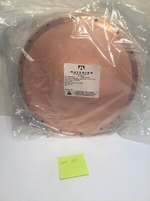 """MATERION Microelectronics 12.99""""dia. x 0.250"""" COPPER SPUTTER PLATE,TARGET w/ Box"""