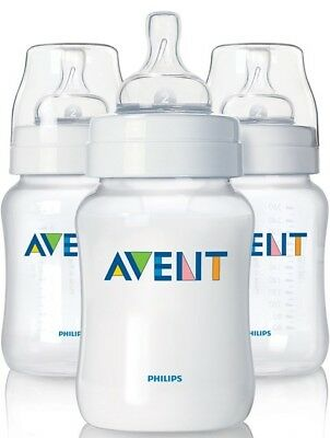 NEW Avent Classic 260ml Feeding Bottle 3-Pack 12224 FAST SHIPPING