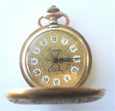 Vintage ARNEX  Pocket Watch Incabloc 17 Jewels Made In France Good Working Cond.