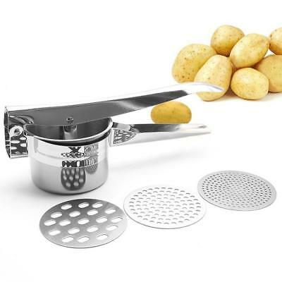 Professional Stainless Steel Potato Ricer Masher Heavy Duty Food Presser for...