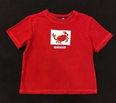 """Janie And Jack """"Crab Coast"""" Boys Size 3 Red Top"""
