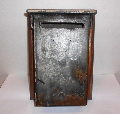 1940s Vintage Slotted Mailbox Wall Mounted Exterior Cast Base