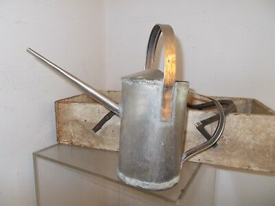 Vintage GALVANIZED Metal WATERING CAN Handmade Project