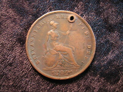 1 old world coin lot GREAT BRITAIN large penny 1831 KM707 George IV FREE S&H