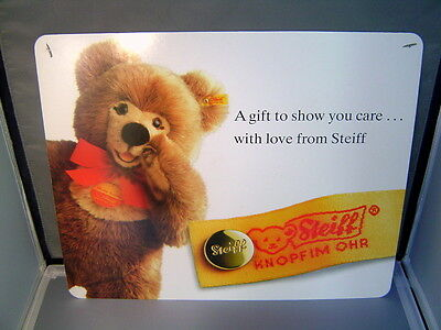 STEIFF Molly Teddy Bear color Display Sign printed on both sides 16 inches