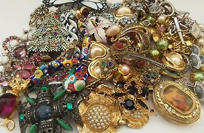 Modern Vintage Lot of 31 Earrings Necklaces Brooches Bracelets Craft Repurpose