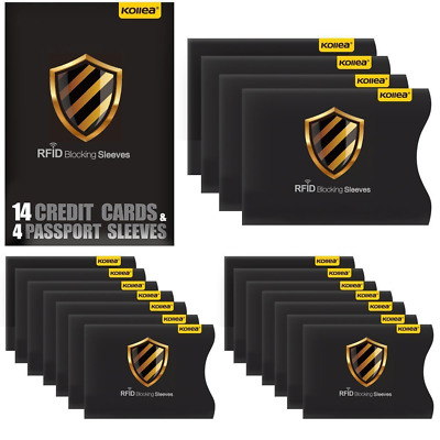 [12 Pack] RFID Blocking Sleeves - Contactless card ...