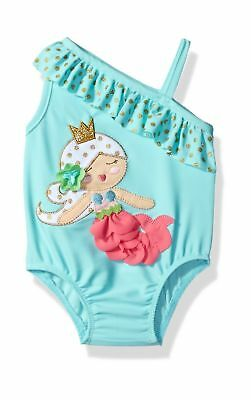 Mud Pie Baby Girls' Swimsuit One Piece Mermaid 4T