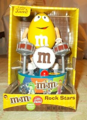 "M&M's Rock Stars Band Drummer Yellow Peanut  Music Moves 5"" Drum"