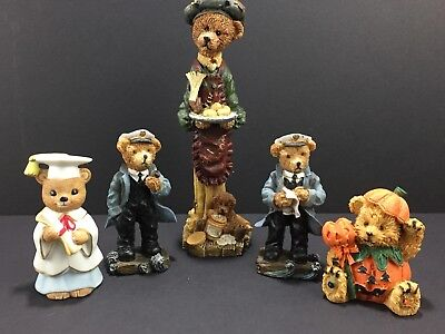 Bears Figurines Lot 5 Homco Halloween Sailors Nautical Chef Colletible Vintage