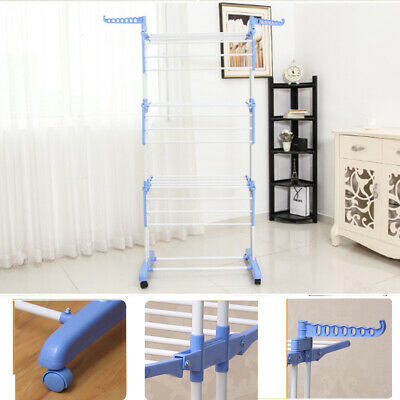 AU Foldable 6 Tiers Clothes Airer Drying Rack  Hanger Laundry Indoor Coat Stand