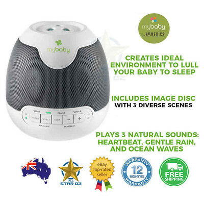 Homedics My Baby SoundSpa Lullaby Projector Lull Infant Sleep White Noise Sound
