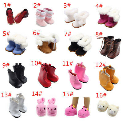 Doll Leather/Cute Boots Shoes For 18 inch American Girl Doll Party Gift Toy