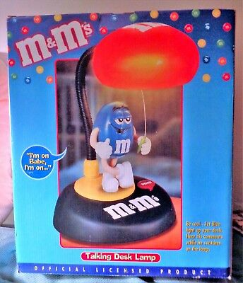M&M's Collectible Talking Animated Lighted Desk Lamp ~ Brand New, NRFB Retired