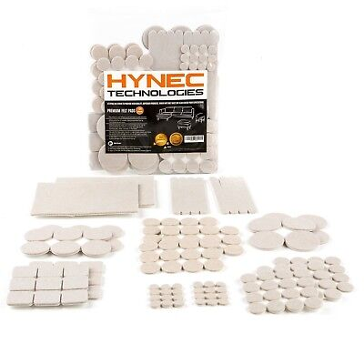 Hynec Premium Furniture Felt Pads LARGE Set 8 Size Self Stick On Chair Pads Floo