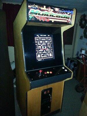 100% New Working Rebuild - Woodgrain Cabinet Multicade Arcade Machine - 60 Games