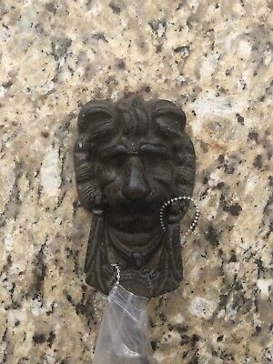 "Cast Iron Rustic LION HEAD Door Knocker Brown Finish 6 1/8"" X 3.5"""
