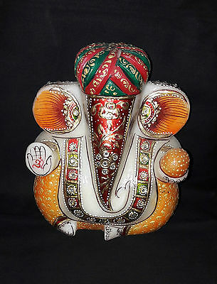 Lord Ganesha Painted On Marble