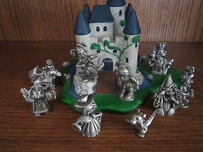 Hudson pewter dragons, horse, knights,  maidens, castle, king, queen Kingdom