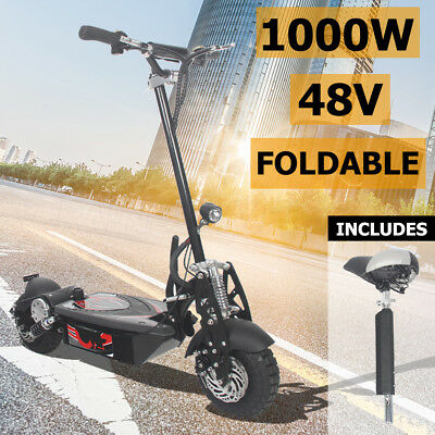 Portable 1000W Electric EBike Scooter Foldable Turbo w/ LED Kids Adult Ride Toy
