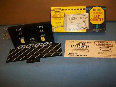 Aurora Model Motoring Two Lane Electric Lap  Counter With Box And Instructions