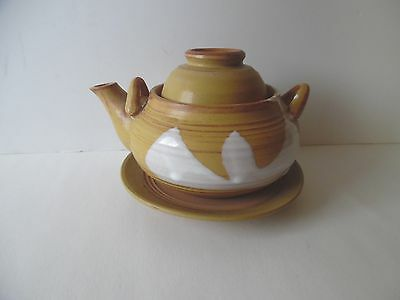 Ceramic Teapot with Matching Saucer And Cup