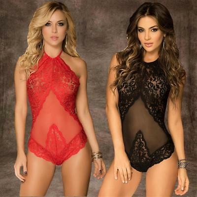 Women Sexy Lingerie Nightwear Lace Dress G-string Underwear Babydoll Sleepwear
