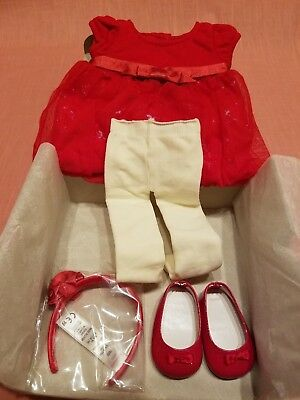 NIB American Girl Doll Bitty Baby (Bitty Twin) Twinkle Party Dress (Holiday)