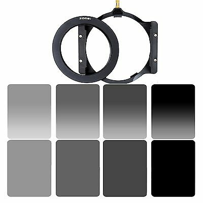 Zomei 4x6in GND&ND2,4,8,16 Filter kit +77mm Adapter Ring+Holder set for Cokin Z
