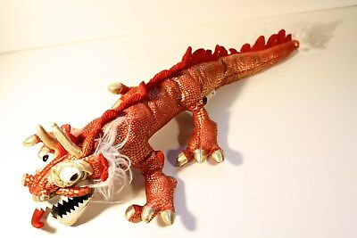 "Folkmanis Red Chinese Dragon Hand Puppet 20"" Long small sized"