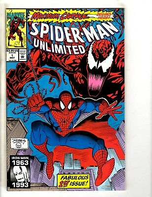 Lot Of 9 Spider-Man Unlimited Marvel Comic Books # 1 2 3 4 5 6 7 8 9 Venom RM2
