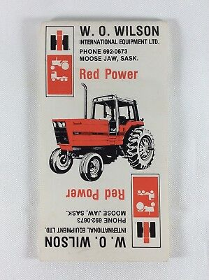 International Harvester Dealer Advertising Notepad Red Power 1983