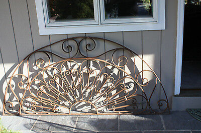 "Wrought Iron Arched Door/ Window Guard Panel 80 "" X 36 """