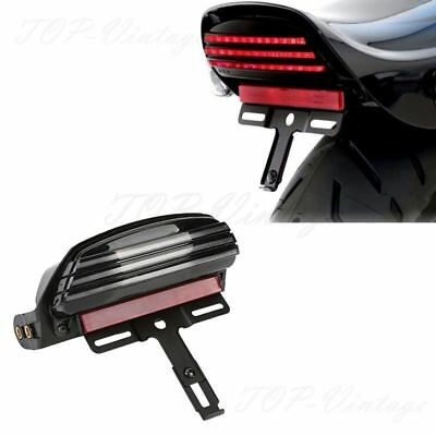 Tri-Bar Fender LED Tail Light +Bracket For Harley Softail FXST FXSTB FXSTC Dyna