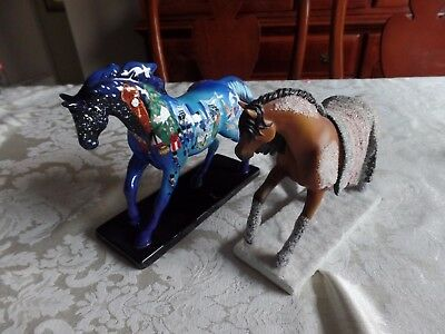 The Trail of Painted Ponies #12276 Wounded Knee And #12201 Nutcracker pony