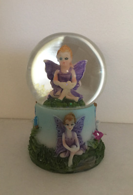BLUE 1 x Fairy Snowglobe Waterball with Fairies on Base GREAT GIFT FREE SHIPPING