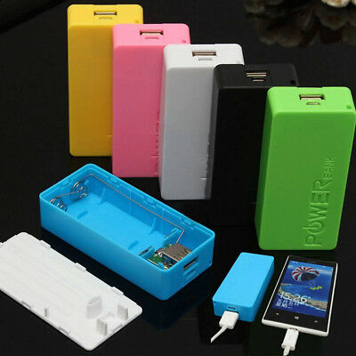 2X 18650 USB Power Bank Battery Charger Case DIY Box For iPhone For Sumsang
