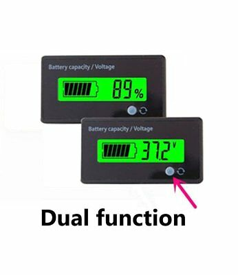 36V LCD Battery Fuel Gauge Indicator Meter for Lead-acid Battery Motorcycle Golf