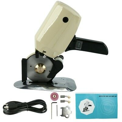 "4""Round Knife Electric Fabric Cutting Machine Cloth Cutter Fabric Rotary Cutter"