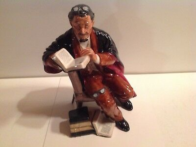 Vtg Collectible ROYAL DOULTON THE PROFESSOR Porcelain Figurine Black/Brown