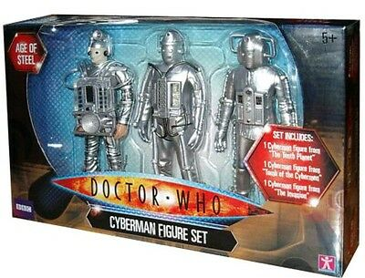 Doctor Dr Who ''Age of Steel'' Cyberman 3 Figure Set New Sealed