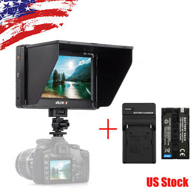 VILTROX DC-70II 7''Clip-on Camera Monitor DisPlay HDMI/AV Port for Comcorders