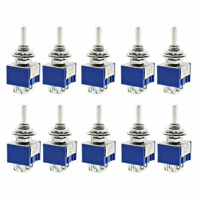 5pcs/10pcs AC 125V 6A Amps ON-OFF-ON 3 Position 3-Terminals DPDT Toggle Switch