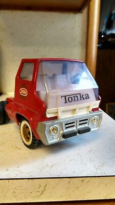 Vintage Tonka Fire Ladder Truck, Cab Only Pressed Steel Toy Vehicle Semi Truck