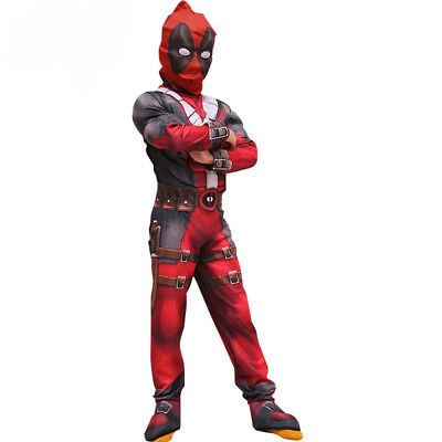 Deadpool Cosplay Costume for Boys Girls Party Cosplay Deadpool Costume With Mask