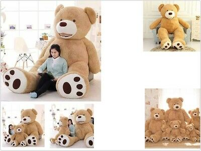 Valentine's Gift Teddy Bears With Big Footprints Plush Toys Light Brown 5 ft USA