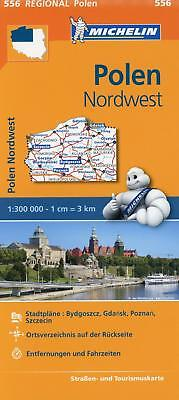 Michelin Regionalkarte Polen Nordwest 1 : 300 000, (Land-)Karte, Michelin-Karten