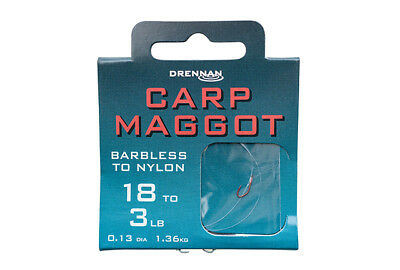 Drennan Carp Maggot Hooks to Nylon Available in Size 14 to 20