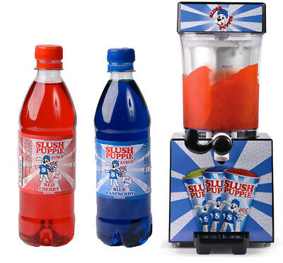 Official Slush Puppie Machine - Syrup - Cherry - Raspberry - Apple - Slushie