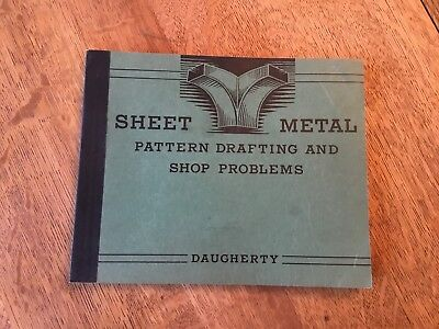 Sheet Metal Pattern Drafting & Shop Problems Book Daugherty 1922